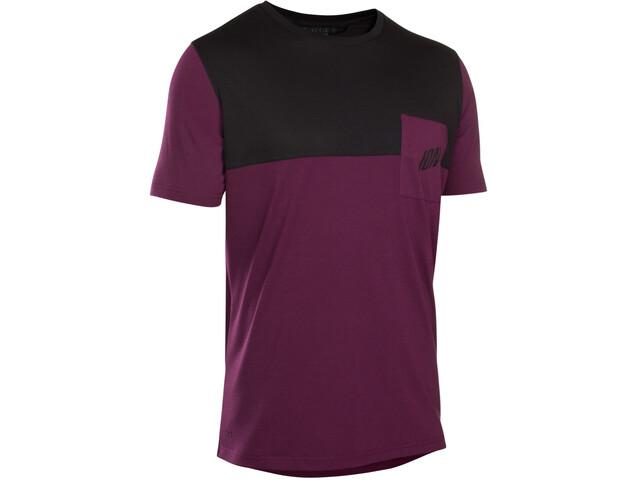 ION Seek AMP Fietsshirt korte mouwen Heren roze/zwart